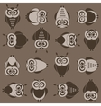 background with brown owls vector image vector image