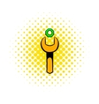 Spanner and nut icon comics style vector image