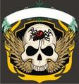ribbon skull vector image vector image