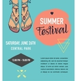 Bohemian summer event poster boho style vector image