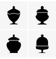 Sweet jars vector image