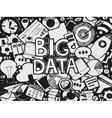Big Data Sketch Doodle vector image