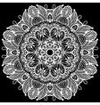 black and white beautiful vintage circular pattern vector image