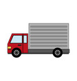 color image cartoon realistic transport truck with vector image