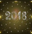 inscription 2018 on a golden background new year vector image