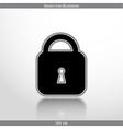 padlock web flat icon vector image