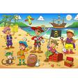 pirate child cartoon vector image