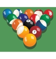 Set of billiard balls realistic vector image