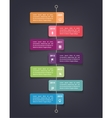 Timeline infographics design template with 7 vector image vector image