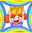girl wearing golden crown vector image