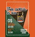 color vintage bar banner vector image