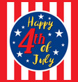 usa 4th of july vector image vector image