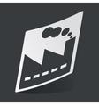 Monochrome factory sticker vector image
