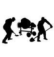 worker silhouettes vector image