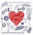 Pattern Folk Design vector image