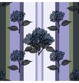 Seamless vertical pattern with bouquet hydrangea vector image