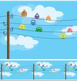 cartoon birds vector image