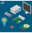 electronic research laboratory Isometric vector image