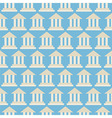 Flat Seamless Pattern Government School Bank vector image