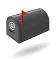 mail box black vector image