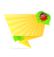 Origami yellow paper vector image