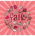 Sweets circle fair concept vector image