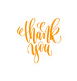 thank you - hand lettering calligraphy positive vector image
