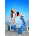 Young sexy woman modern dancer vector image