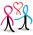 Support people infected with AIDS vector image