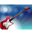 A red electric guitar vector image vector image