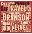 Branson Group Travel Guide text background vector image