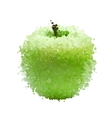 Green apple of blots isolated on white vector image