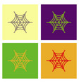 assembly flat icons spider web vector image