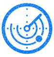 round radar grunge icon vector image