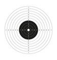 blank gun target paper shooting target blank vector image