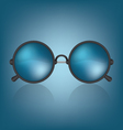 Retro blue sunglasses vector image vector image