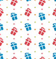 Seamless Texture with Gift Boxes for Celebrate vector image vector image