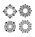 wavy round pattern element vector image