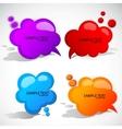 colorful cloud bubble for speech vector image