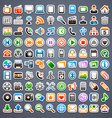 100 sticker icons vector image
