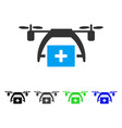 First aid drone flat icon vector image