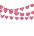 pink hearts love garlands festive romantic vector image