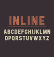 retro inline bold font design alphabet typeface vector image