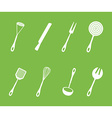set cutlery vector image