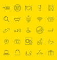 shopping mall thin line icons vector image