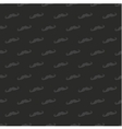 Tile dark mustache pattern or seamless background vector image