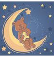 bear sweet dreams card vector image vector image