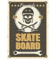 Skateboard Vintage Poster vector image