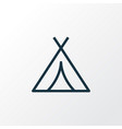 tent outline symbol premium quality isolated vector image