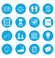 Business office icon blue vector image
